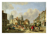 The Haymarket, Norwich, 1825 (Oil on Panel) Giclee Print by David Hodgson