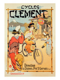 Poster Advertising &#39;Cycles Clement&#39;, Pre Saint-Gervais (Colour Litho) Giclee Print by  French
