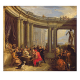 Concert in a Circular Gallery, c.1718-19 Giclee Print by Giovanni Paolo Pannini