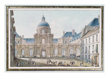 View of the Palais Du Senat Conservateur (Le Luxembourg) Paris (W/C on Paper) Giclee Print by Victor Jean Nicolle