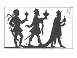 Silhouette of the Three Kings Premium Giclee Print by  English