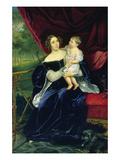Countess Olga Ivanovna Orlov-Davydov with Her Daughter, 1834 Giclee Print by Karl Pavlovich Bryullov