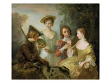 The Sense of Smell, C.1744-47 (Oil on Canvas) (See also 129302 and 129303) Giclee Print by Philippe Mercier
