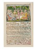 Laughing Song&#39;, Plate 26 from &#39;Songs of Innocence and of Experience&#39; [Bentley 15] C.1789-94 Reproduction proc&#233;d&#233; gicl&#233;e par William Blake