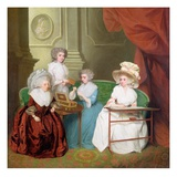 Lady Jane Mathew and Her Daughters, c.1790 Giclee Print by  English