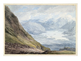 View from Skiddaw over Derwentwater (W/C over Pencil on Paper) Giclee Print by Thomas Hearne