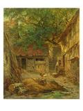A Farmhouse Courtyard, 1862 Giclee Print by Anton Burger