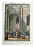 Events of the 5th of October 1789: the Women Want to Hang the Priest Lefevre (Coloured Engraving) Giclee Print by Jean-francois Janinet