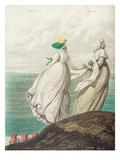 Bathing Place, from 'Gallery of Fashion', 1797 (Colour Engraving) Giclee Print by Nicolaus von Heideloff