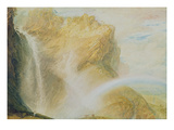 Upper Falls of the Reichenbach (W/C on Paper) Reproduction procédé giclée par Joseph Mallord William Turner