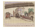 Two Bridges, 1912-13 (Crayon and W/C on Paper) Giclee Print by Robert Polhill Bevan