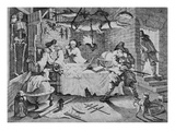 Hudibras Beats Sidrophel and His Man Whachum, from 'Hudibras' by Samuel Butler (Litho) Giclee Print by William Hogarth