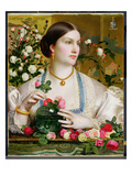 Grace Rose, 1866 (Oil on Panel) Premium Giclee Print by Anthony Frederick Augustus Sandys