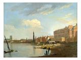 A Study of the Thames with the Final Stages of the Adelphi, 1772 Giclee Print by William Marlow