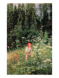 Girl Among the Wild Flowers, 1880 Premium Giclee Print by Olga Antonova Lagoda-Shishkina