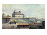 Villa Medici, Rome, C.1776 (Oil on Paper) Giclee Print by Thomas Jones