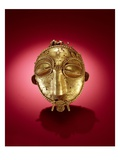 Asante Mask, from Ghana (Gold) Premium Giclee Print by  African