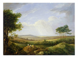 Landscape with Figures (Oil on Panel) Giclee Print by Captain Thomas Hastings