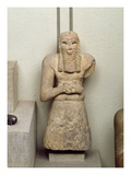 Statue of Ginak, Prince of Edin, from Iraq, 2800-2300 BC (Stone) Giclee Print by Sumerian