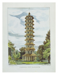 Pagoda, Kew Gardens, Plate 9 from 'Kew Gardens: a Series of Twenty-Four Drawings on Stone' Giclee Print by George Ernest Papendiek