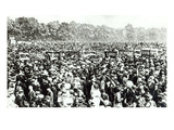 Great Votes for Women Demonstration in Hyde Park, 21st June 1908 (B/W Photo) Giclee Print by  English Photographer