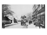 View of Church Street, Kensington C.1906 (B/W Photo) Giclee Print by  English Photographer