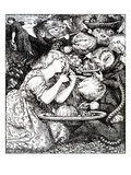 Frontispece to 'Goblin Market and Other Poems' by Christina Rossetti, Engraved by William Morris Premium Giclee Print by Dante Gabriel Rossetti