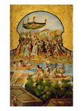 The Royal Procession of Montezuma En Route to Meet the Spanish (Oil on Canvas) Giclee Print by  Spanish