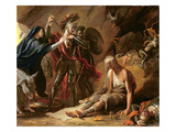 The Cave of Despair, 1772 (Oil on Canvas) Giclee Print by Benjamin West