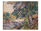 The Creuse at Genetin Giclee Print by Armand Guillaumin