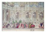 The Masked Ball at the Galerie Des Glaces on the Occasion of the Marriage of the Dauphin Premium Giclee Print by Charles Nicolas II Cochin