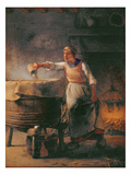 The Boiler, 1853-54 (Oil on Canvas) Reproduction procédé giclée par Jean-Francois Millet