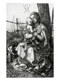 The Virgin and Child Seated under a Tree, 1513 (Engraving) Giclee Print by Albrecht Dürer