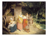 Outside the Cottage Door Giclee Print by Francis Wheatley
