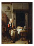 The Grace (Oil on Panel) Gicl&#233;e-Druck von Quiringh Gerritsz. van Brekelenkam