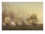 Action Off the Cape of Good Hope, March 9Th, 1757 Giclee Print by Samuel Scott
