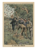 Birds' Day, Back Cover Illustration from 'Le Petit Journal', Supplement Illustre, 27th April 1913 Giclee Print by  French