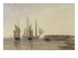 Entrance to Calais Harbour, 1829 (W/C, Pen and Ink, Bodycolour and Pencil on Paper) Giclee Print by David Cox