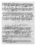 Handwritten Musical Score (Ink on Paper) Giclee Print by Ludwig Van Beethoven