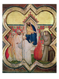 The Trial by Fire, St. Francis Offers to Walk Through Fire, to Convert the Sultan of Egypt in 1219, Giclee Print by Taddeo Gaddi