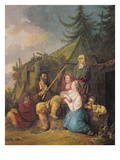 The Balalaika Player, 1764 Giclee Print by Jean-Baptiste Le Prince