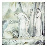 The Compassion of Pharaoh's Daughter or the Finding of Moses, 1805 (Pen and W/C over Pencil) Giclee Print by William Blake