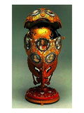 The Romanov Tercentenary Faberge Egg, 1913 (Mixed Media) Giclee Print by G. Vigstrem