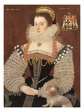 Frances Clinton, Lady Chandos (1552-1623) 1579 (Oil on Panel) Giclee Print by John, the Younger Bettes