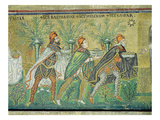 The Procession of the Three Kings (Mosaic) Reproduction procédé giclée par  Byzantine