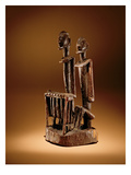 Figures with Xylophone (Wood and Metal) Giclee Print by  Dogon Culture