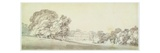 A Three Storied Georgian House in a Park, C.1795 (Wash over Graphite on Paper) Giclee Print by Joseph Mallord William Turner