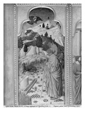 Cycle of the Life of the Virgin, Annunciation to Joachim, C.1445 (Oil on Poplar Panel) (B/W Photo) Giclee Print by  Giovanni Francesco da Rimini