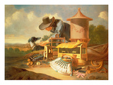 A Birdcatcher and His Dog (Oil) Giclee Print by Antonius Leemans