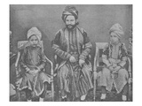 Son-In-Law and Grandsons of Sultan Shah Jahan, Begum of Bhopal (Engraving) Giclee Print by  English Photographer